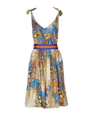 Платье до колена MARIAGRAZIA PANIZZI. Цвет: пастельно-синий