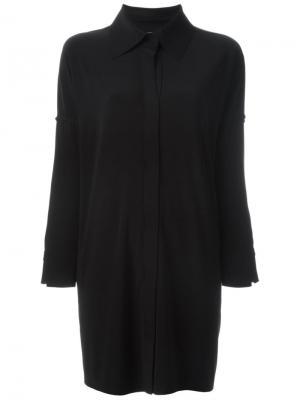 Короткое платье-рубашка Norma Kamali. Цвет: чёрный