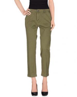 Повседневные брюки NOTIFY. Цвет: зеленый-милитари