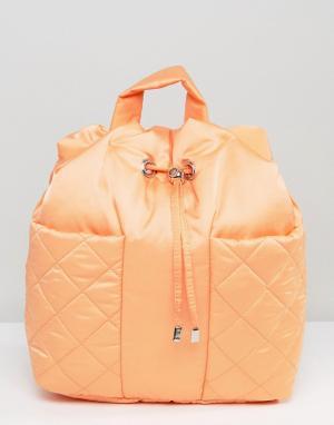 ASOS Стеганый рюкзак LIFESTYLE. Цвет: оранжевый