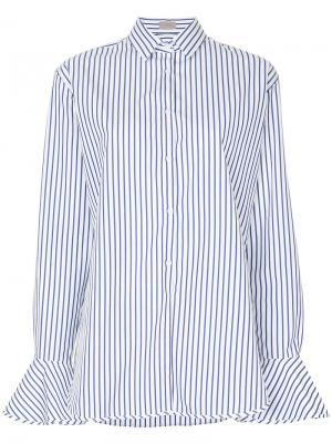 Рубашка в полоску MRZ. Цвет: белый