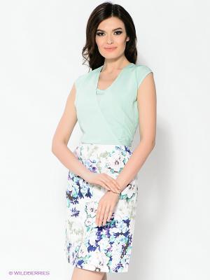 Платье Capriz. Цвет: белый, светло-зеленый