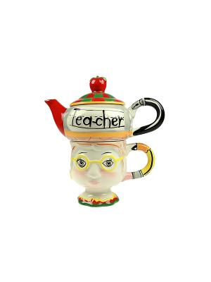 Подарочный набор Разговор за чашкой чая на 1 персону Русские подарки. Цвет: белый, черный, красный, желтый