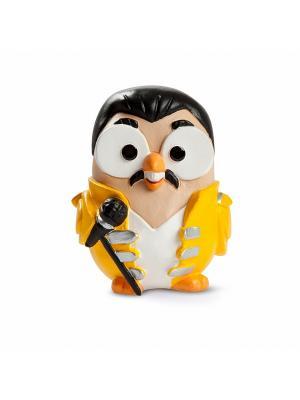 Керамическая статуэтка сова Фредди Меркьюри, Goofi. Цвет: белый
