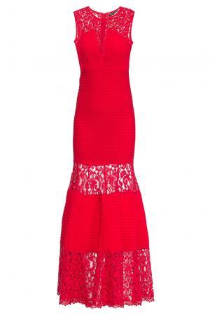 Платье из искусственного шелка 167863 Paola Morena. Цвет: красный