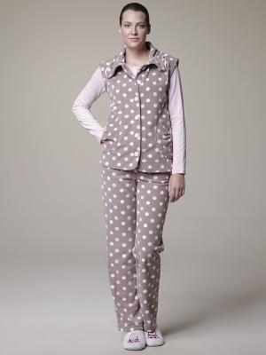 Пижама с брюками тройка RELAX MODE. Цвет: бежевый