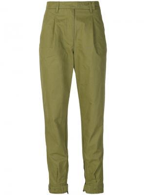Зауженные брюки Ermanno Scervino. Цвет: зелёный
