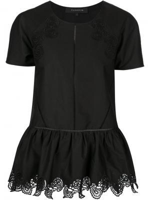 Блузка с вышитым принтом пейсли Thakoon. Цвет: чёрный