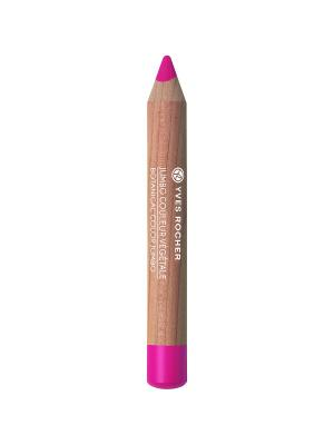 Тени-карандаш для век матовые 04 Розовая Фуксия Yves Rocher. Цвет: фуксия