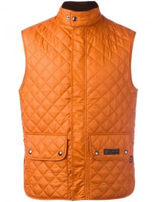 Стеганый жилет Belstaff. Цвет: жёлтый и оранжевый