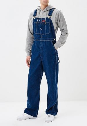 Комбинезон джинсовый Dickies. Цвет: синий