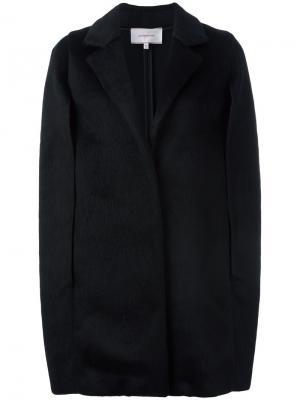 Пальто с рукавами-кап Borbonese. Цвет: чёрный