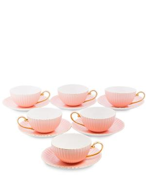 Чайный н-р на 6 перс. Тоскана роз (Pavone) Pavone. Цвет: розовый