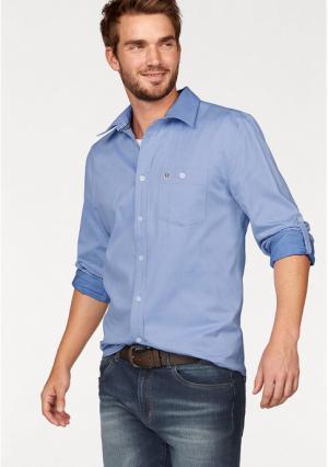 Рубашка Rhode Island. Цвет: голубой