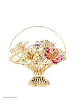 Композиция Цветы Юнион. Цвет: золотистый, голубой, розовый, светло-зеленый