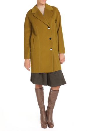 Пальто Анора. Цвет: олива