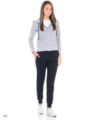 Спортивный костюм Runika. Цвет: серый, черный