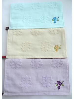 Набор полотенец A and C Collection. Цвет: желтый, морская волна, фиолетовый