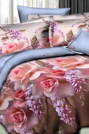 Постельное белье 2,0 сп 70х70 Patrizia. Цвет: розовый, коричневый