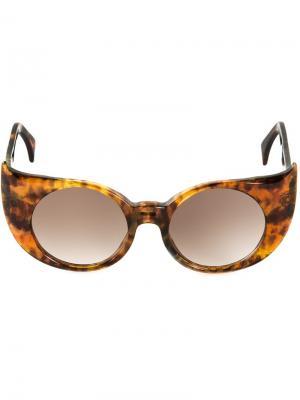 Солнцезащитные очки Eye-Liner Frame  Barns Barn's. Цвет: коричневый