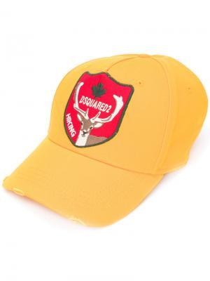 Бейсбольная кепка Hiking Dsquared2. Цвет: жёлтый и оранжевый