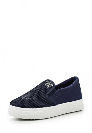 Слипоны Sweet Shoes. Цвет: синий