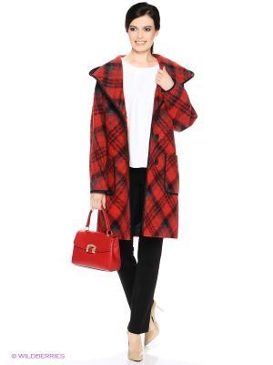 Пальто PARADOX. Цвет: красный, черный