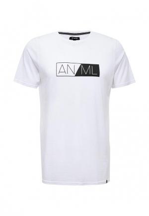 Футболка Animal. Цвет: белый
