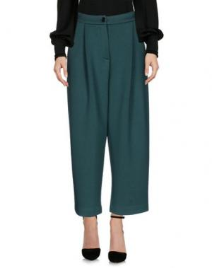 Повседневные брюки TWELVE-T. Цвет: темно-зеленый