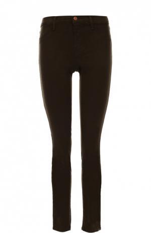 Укороченные джинсы-скинни J Brand. Цвет: коричневый