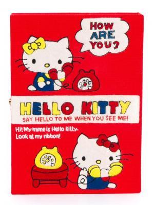 Клатч Hello Kitty Book Olympia Le-Tan. Цвет: красный