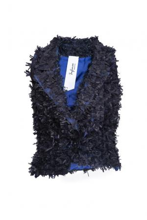 Жилет из искусственного шелка 160665 Infinee. Цвет: синий
