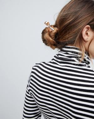 ASOS Декоративная шпилька для волос. Цвет: медный