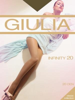 Колготки INFINITY 20, 2 пары (20 ден) Giulia. Цвет: темно-коричневый, коричневый