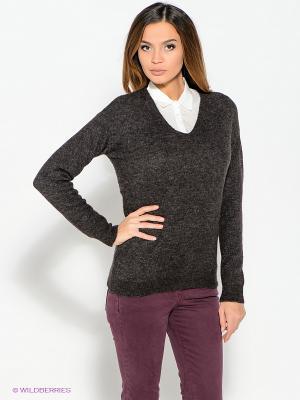 Пуловер ZARINA. Цвет: темно-коричневый