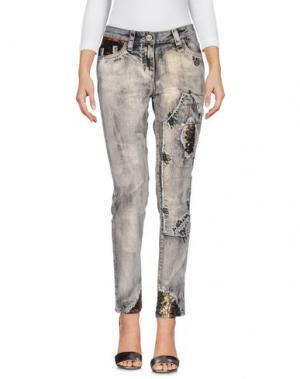 Джинсовые брюки DANIELA DALLA VALLE ELISA CAVALETTI. Цвет: серый