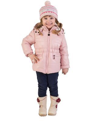 Куртка babyAngel. Цвет: бледно-розовый