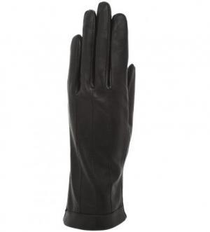 Черные кожаные перчатки Bartoc. Цвет: черный