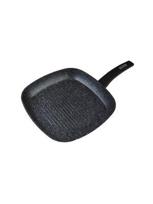 Сковорода-гриль MARBURG из кованого алюминия с мраморным покрытием Procalon, 28x28см Koch Systeme. Цвет: черный