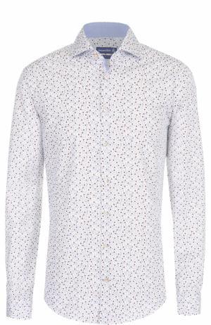 Хлопковая рубашка с принтом Jacques Britt. Цвет: голубой