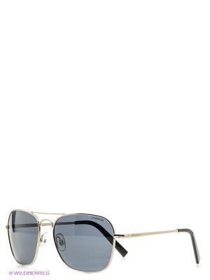 Солнцезащитные очки Polaroid. Цвет: серебристый