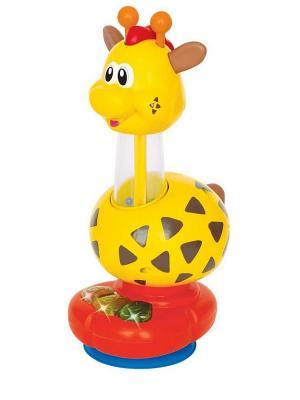 Игрушка развивающая Жираф Kiddieland. Цвет: желтый