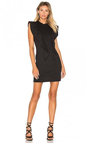 Платье с рюшами на рукавах EDIT. Цвет: черный