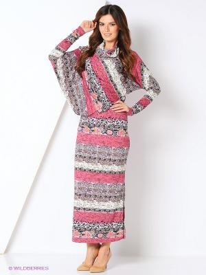 Платье асимметрия ADZHEDO. Цвет: черный, малиновый