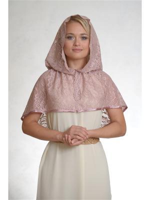 Неспадающий платок Камелия Платков.РФ. Цвет: бледно-розовый