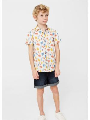 Рубашка - PAINT Mango kids. Цвет: светло-бежевый