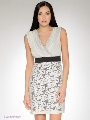 Платье FRENCH HINT. Цвет: белый, черный, серый