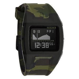 Часы  Lodown Ii Black/Green Camo Nixon. Цвет: черный,зеленый,камуфляжный