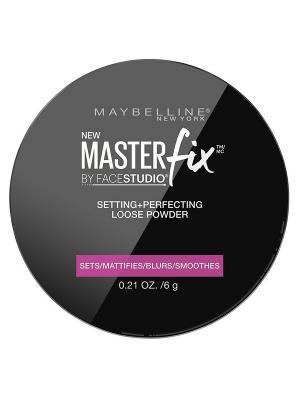 Пудра для лица, фиксирующая макияж, Master Fix, 6 гр Maybelline New York. Цвет: белый