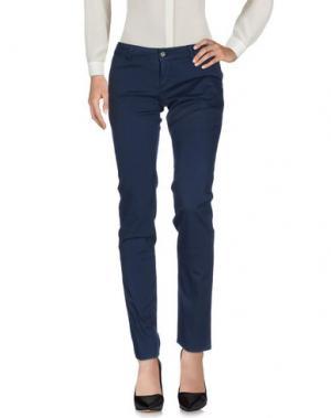 Повседневные брюки GALLIANO. Цвет: темно-синий